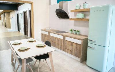 Guarda un espacio para comer en la cocina